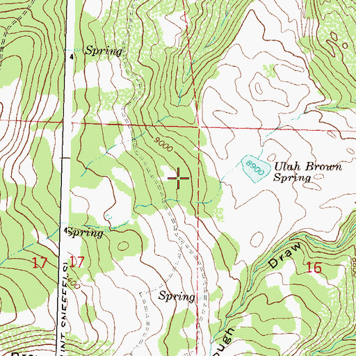 Topographic Map of Carroll Brown Dam, CO