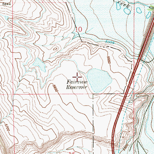 Topographic Map of Fairview and Enlargement Dam, CO