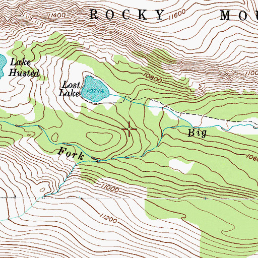 Topographic Map of Glacier Number 1 Dam, CO