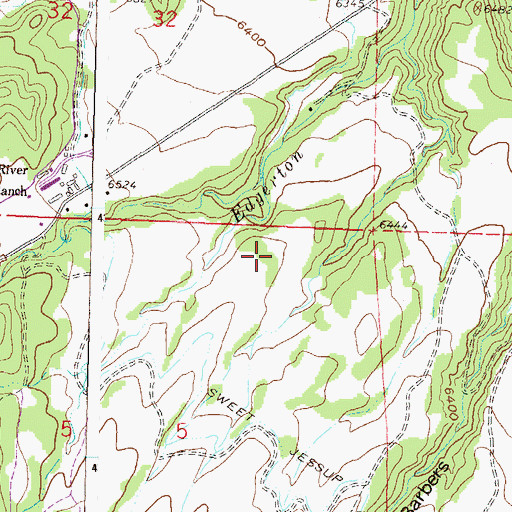 Topographic Map of Hawk Ditch Dam, CO