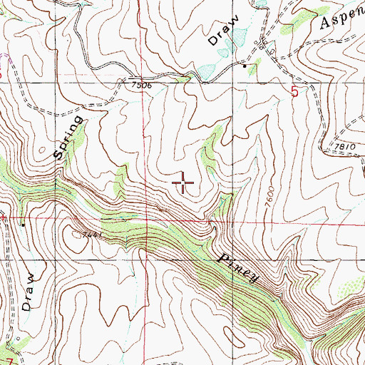 Topographic Map of Castle Dam, CO