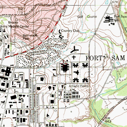 Topographic Map of United States Army Medical Department Museum, TX