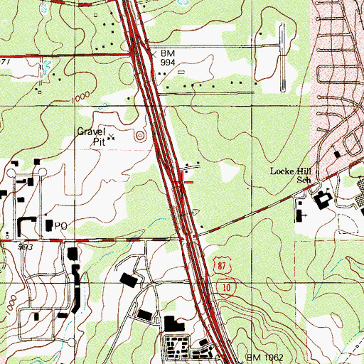 Topographic Map of Community Christian Church, TX