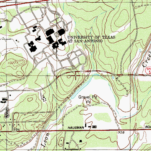 Topographic Map of Episcopal Church of the Holy Spirit, TX