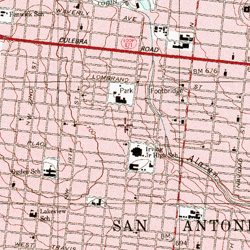 Topographic Map of Rivas Street Church of God in Christ, TX