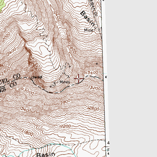 Topographic Map of Navajo Basin, CO