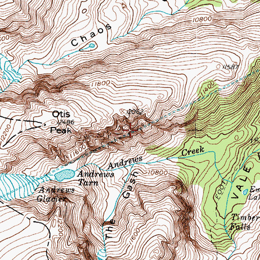 Topographic Map of Alva B Adams Tunnel, CO