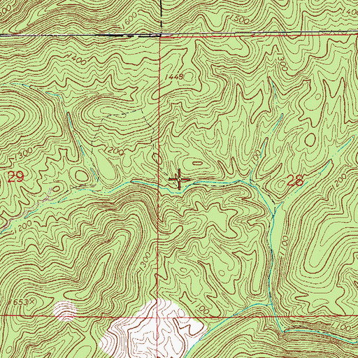 Topographic Map of Dugger Mountain Wilderness, AL