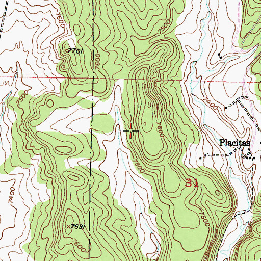 Topographic Map of Canjillon Ranger District, NM