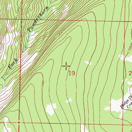 Topographic Map of Powderhorn Primitive Area, CO