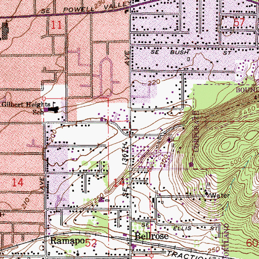 Topographic Map of Gates Park Property, OR