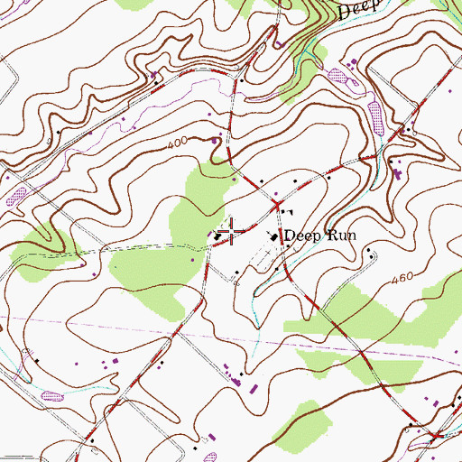 Topographic Map of Deep Run West Mennonite Church, PA