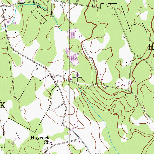 Topographic Map of Haycock Township Municipal Building, PA
