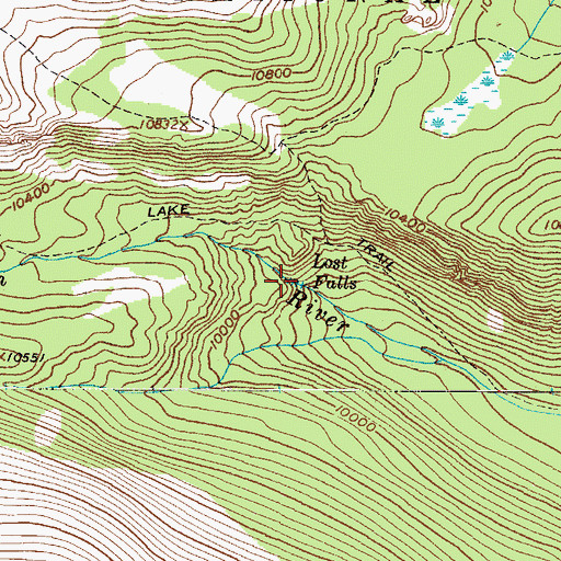 Topographic Map of Lost Falls, CO
