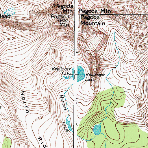 Topographic Map of Keplinger Lake, CO