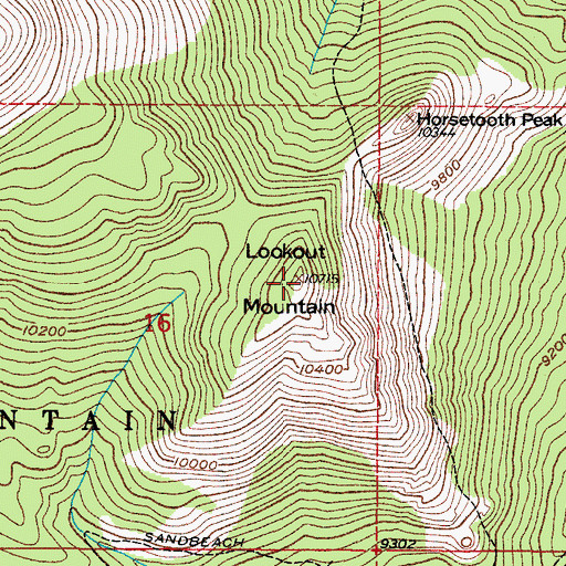 Topographic Map of Lookout Mountain, CO