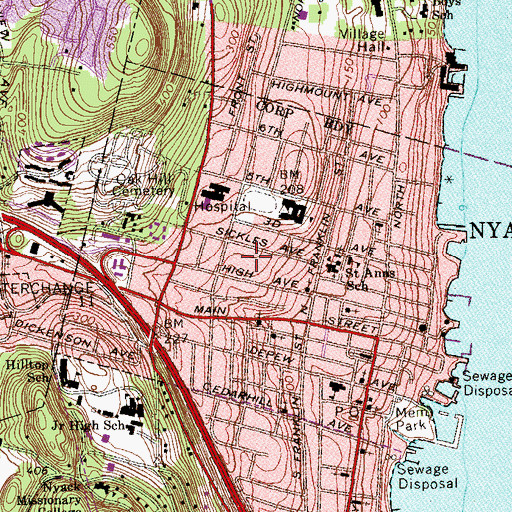 Topographic Map of Aldine Park, NY