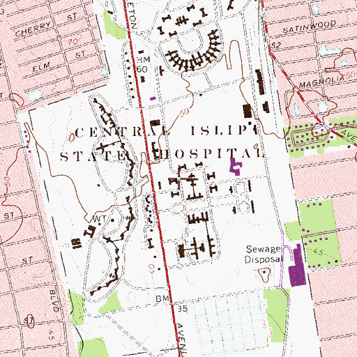 Topographic Map of Challenger Hall, NY