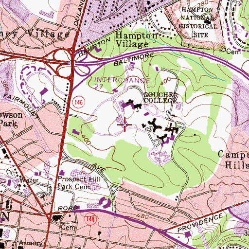 Topographic Map of Rosenberg Gallery, MD