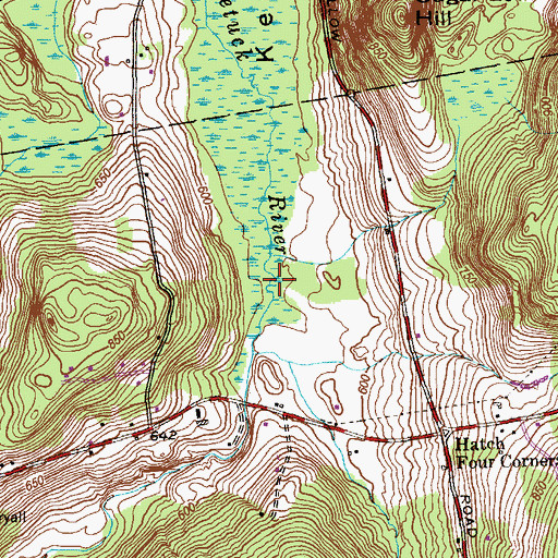 Topographic Map of Kent Hollow, CT