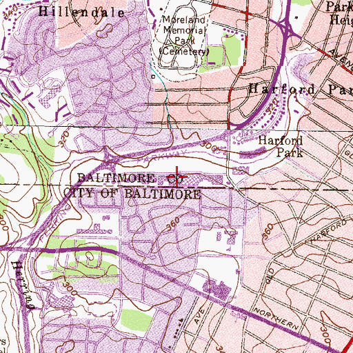 Topographic Map of Parkway Crossing Shopping Center, MD
