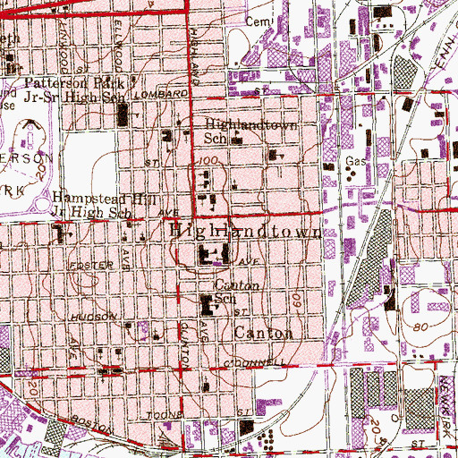 Topographic Map of Baltimore City Fire Station 30, MD