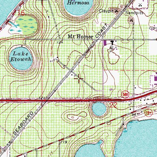 Eustis Florida Map.Eustis Village Shopping Center Fl
