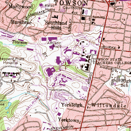 Topographic Map of Glen Complex, MD