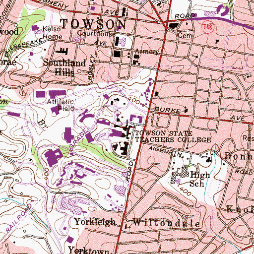 Topographic Map of Newell Dining, MD
