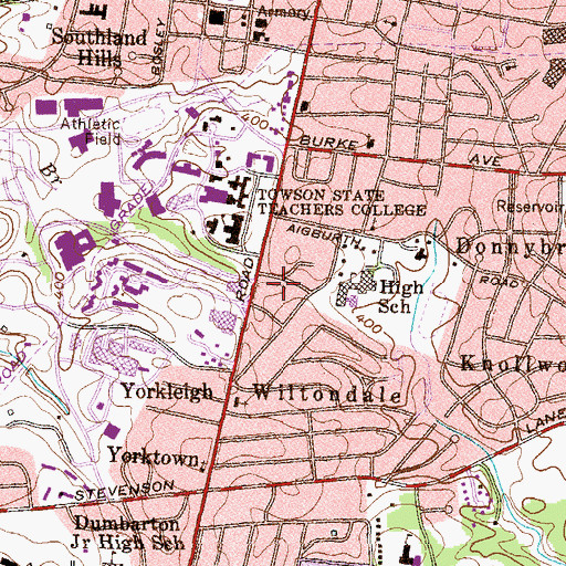 Topographic Map of TerraceDale, MD