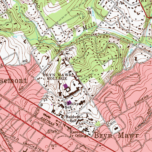 Topographic Map of Canwyll House, PA