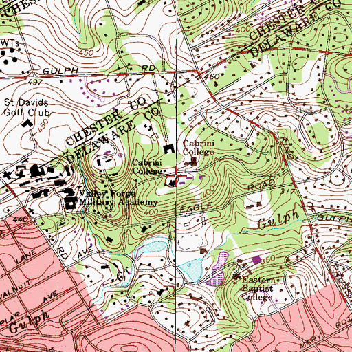 Topographic Map of Bruckmann Chemistry Laboratory Building, PA