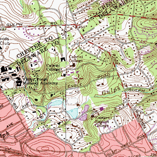 Topographic Map of Dixon House, PA