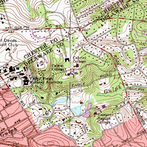 Topographic Map of Rooymans Center, PA