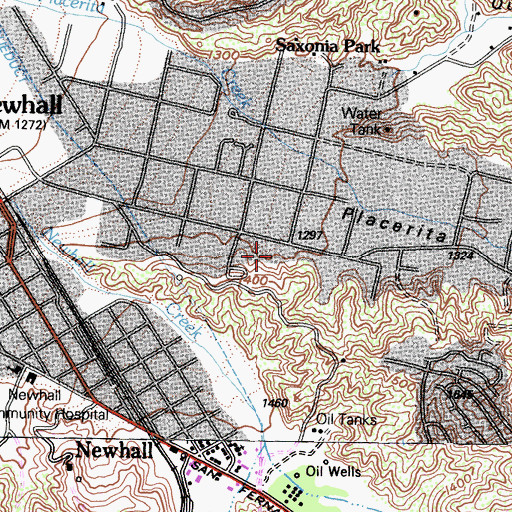 Topographic Map of R L Powell Library, CA