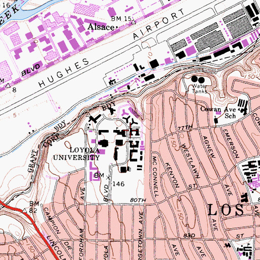 Topographic Map of Daum Hall, CA