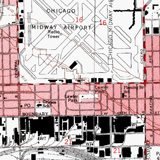 Topographic Map of Chicago Engine Company 127, IL