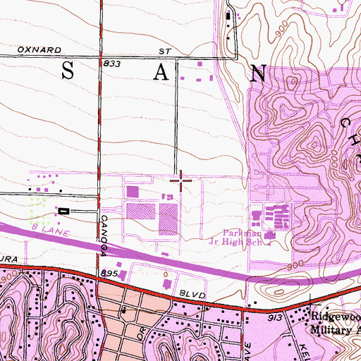 Topographic Map of City of Los Angeles Fire Department Station 84, CA
