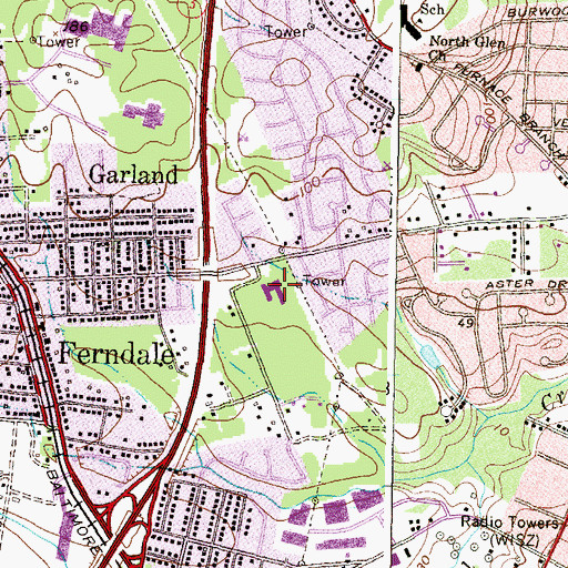 Topographic Map of George Cromwell Elementary School, MD