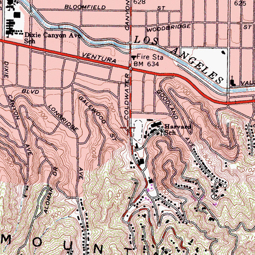 Topographic Map of Ted Slavin Field, CA