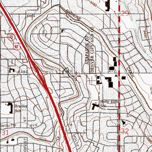 Topographic Map of Calvary Apostolic Academy, CO