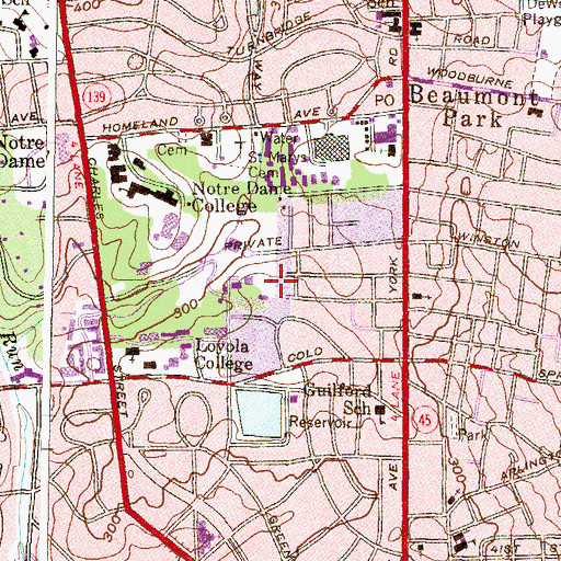 Topographic Map of Early House, MD