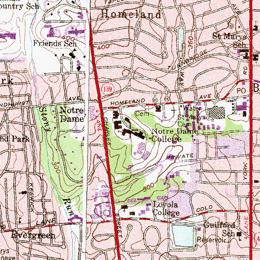 Topographic Map of Theresa Hall, MD