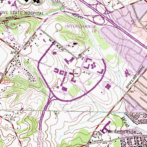 Topographic Map of The Commons Building, MD