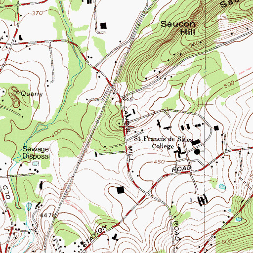Topographic Map of Our Lady of Deliverance Status/Recreation Area, PA