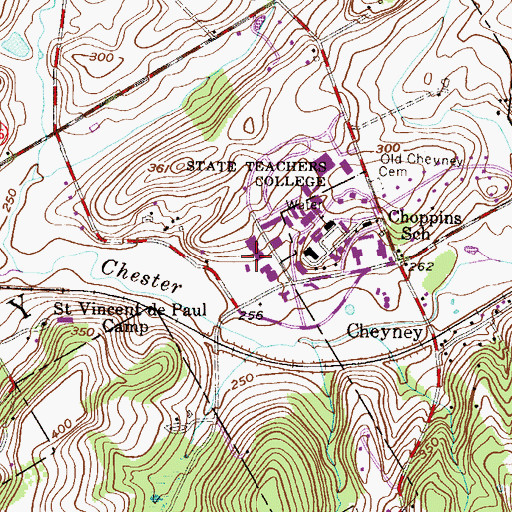 Topographic Map of Cope Annex, PA