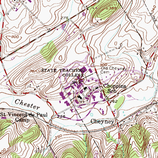 Topographic Map of Harris - Turner Building, PA