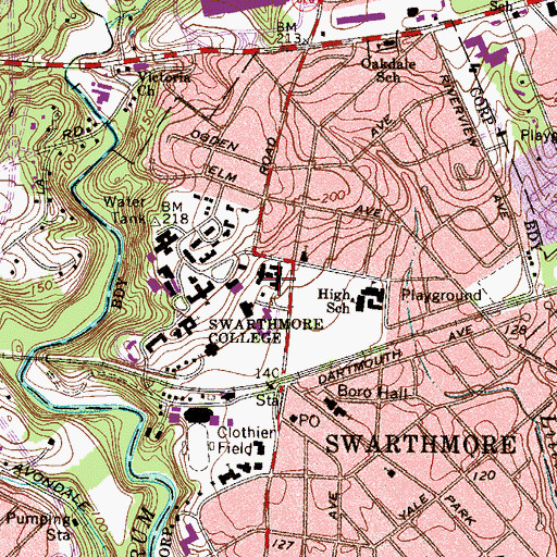 Topographic Map of Bond Lodges, PA