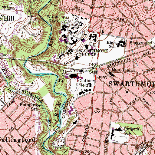 Topographic Map of Tarble Pavilion, PA