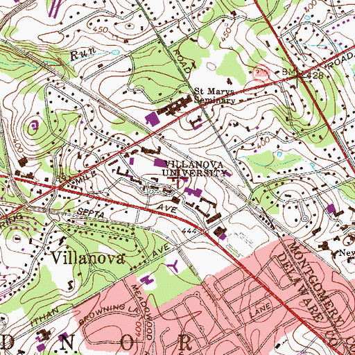 Topographic Map of Bernard Corr Hall, PA